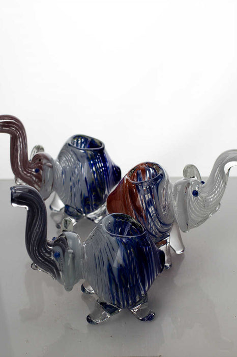 Standing elephant glass hand pipe - One wholesale Canada