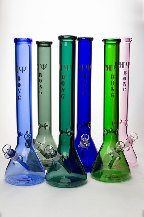 "18"" My bong colored glass classic beaker bong - One wholesale Canada"