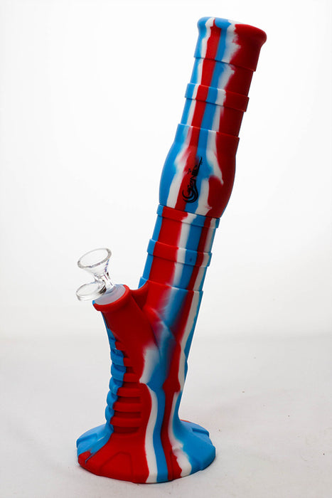 "13"" Genie Detachable silicone mixed color straight bong - One wholesale Canada"