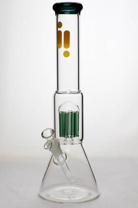 "16"" Infyniti 7 mm thickness single 8-arm glass water bong - One wholesale Canada"