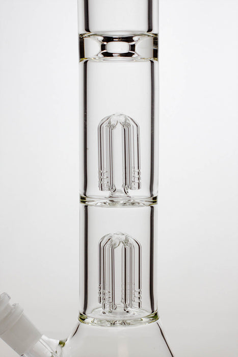 "21"" Infyniti 7 mm thickness dual 4-arm glass water bong - One wholesale Canada"