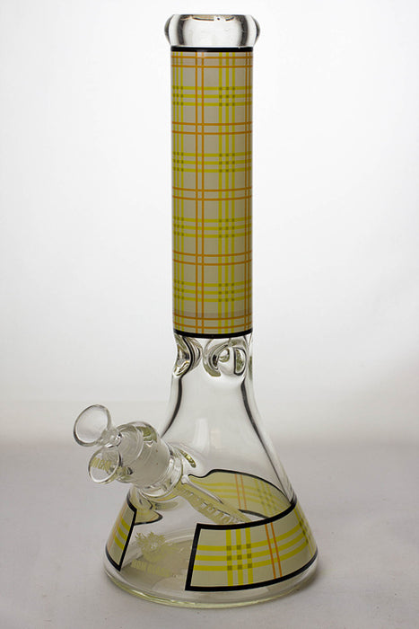 "14"" MGM glass 7 mm check pattern glass bong - One wholesale Canada"