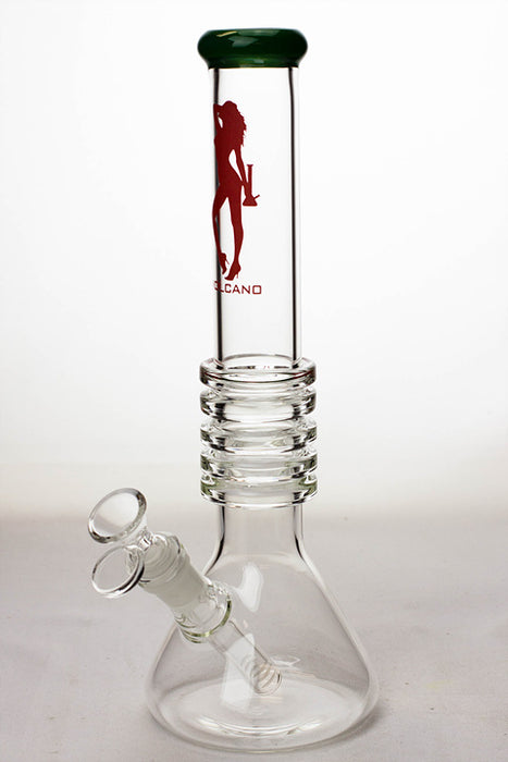 "12"" Volcano 5-ring beaker glass water bong - One wholesale Canada"