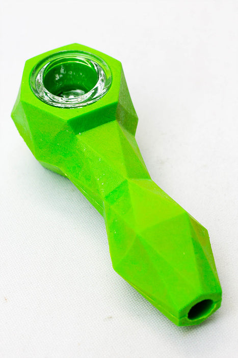 Silicone hand pipe with multi holes glass bowl - One wholesale Canada