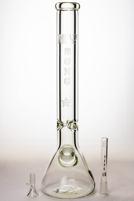 "18"" My Bong 9 mm beaker glass water bong"