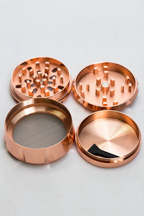 Genie 4 parts rose gold metal grinder
