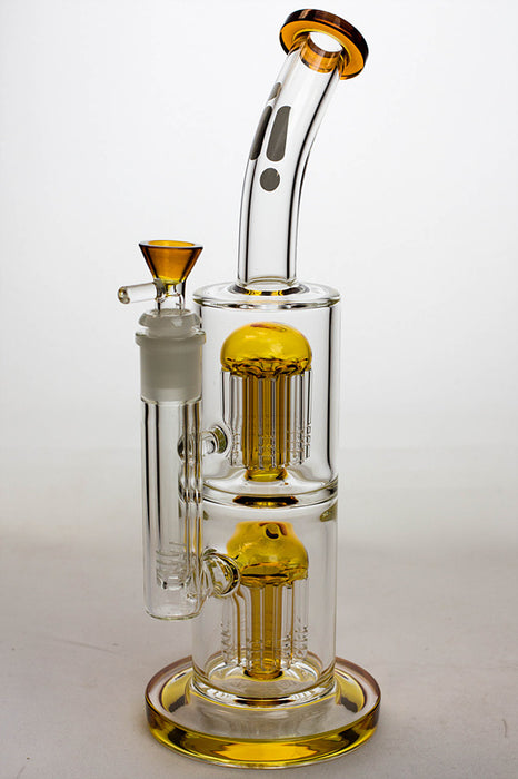 "12"" Infyniti dual tree-arm percolator glass bong"