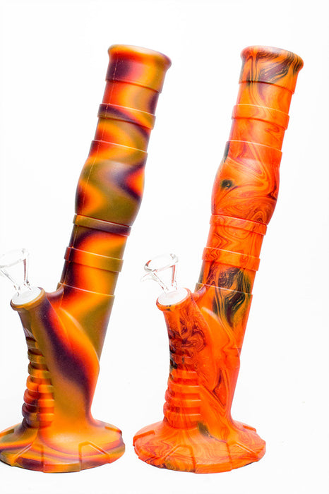 "13"" Detachable silicone straight Orange tube water bong"