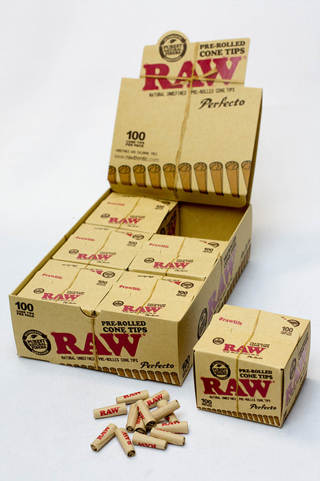 RAW Perfecto Pre-Rolled Cone Tips Box