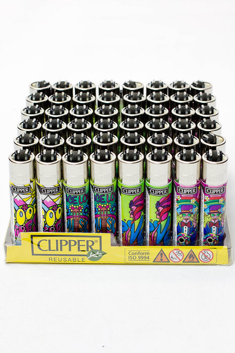 Clipper Hippie 6 Refillable Lighters