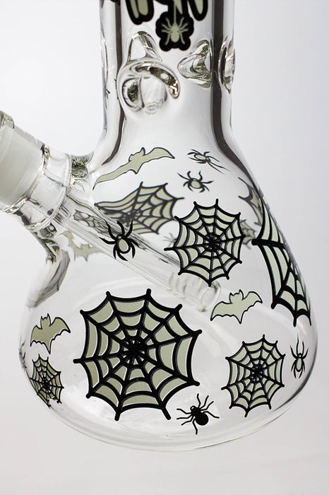 "13.5"" Glow in the dark 9 mm glass water bong - 20021"