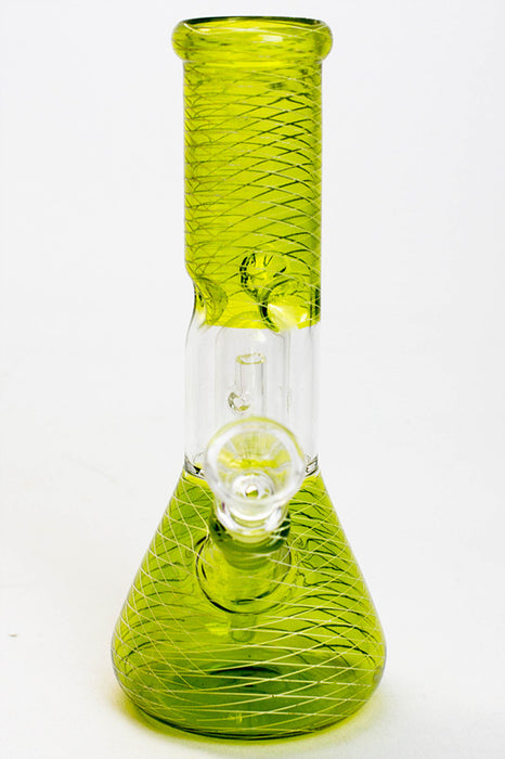 "8"" single dome percolator assorted color water bong"