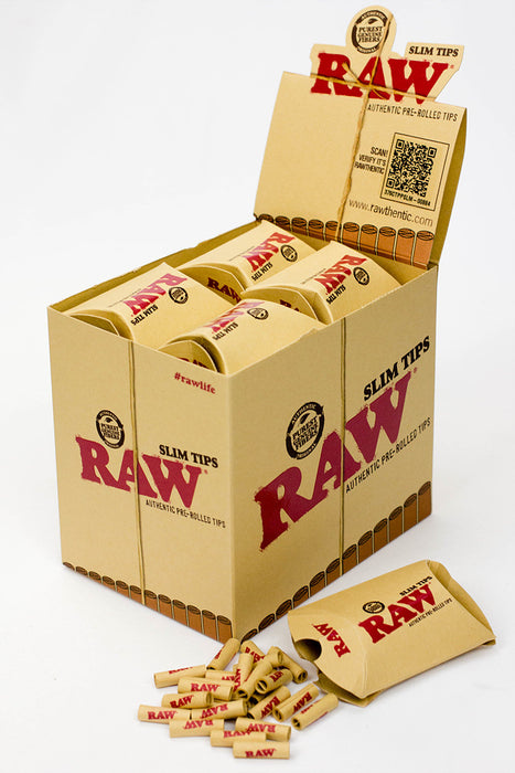 Raw Rolling paper pre-rolled Slim filter tips