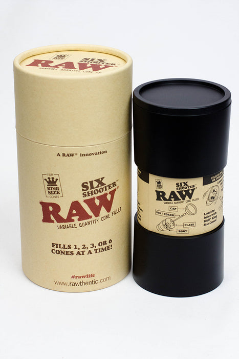 Raw six shooter for King size cones