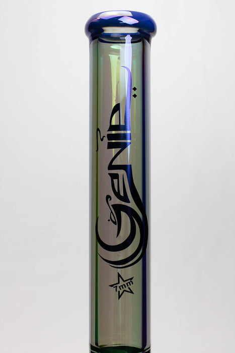 "19"" Genie 7 mm Tinted Metallic glass water bong"