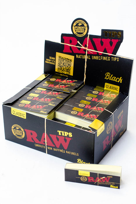 Raw Black Rolling Paper Tips