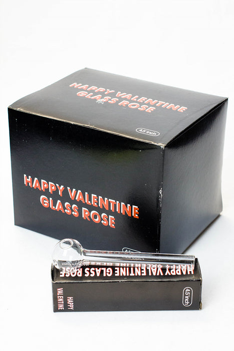 Happy valentine glass Oil burner pipe