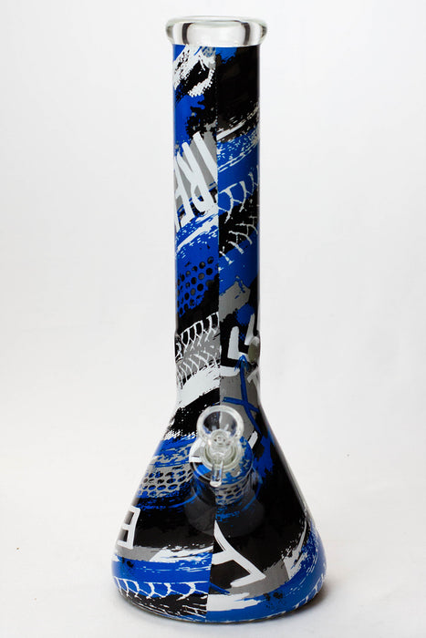 "14"" Graphic wrap 9 mm glass water bong"