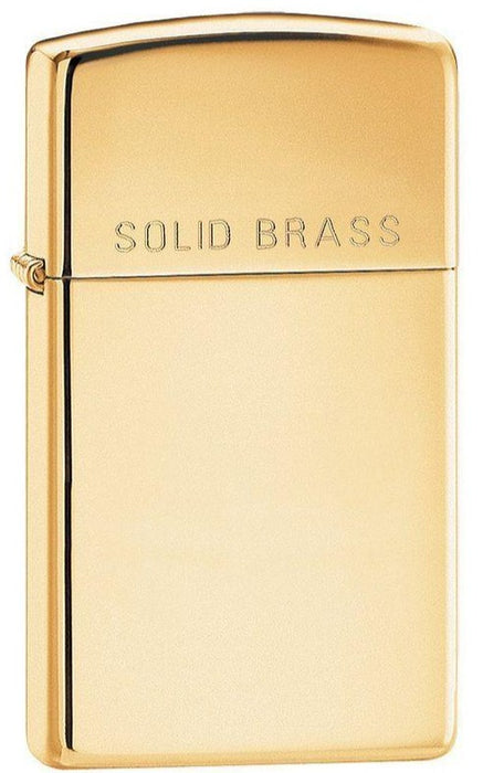 Zippo 1654 Slim Solid Brass - One wholesale Canada