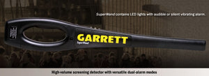 Garrett SuperWand Hand-Held Metal Detector 1165800