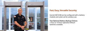 Garrett MZ 6100™ Walk-Through Metal Detector 6
