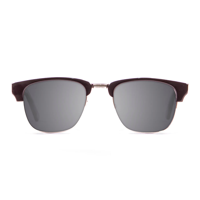 ocean sunglasses KRNglasses model NIZA SKU 13100.1 with jet black frame and smoke lens