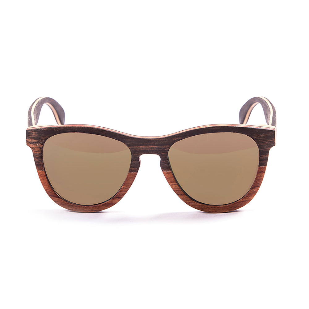 ocean sunglasses KRNglasses model WEDGE SKU 66000.0 with five layers wood frame and brown lens