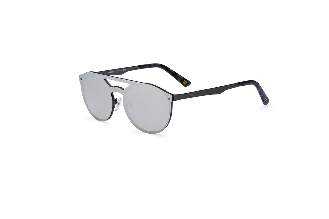 ocean sunglasses KRNglasses model ALEX SKU AE002 with black frame and gradient grey lens