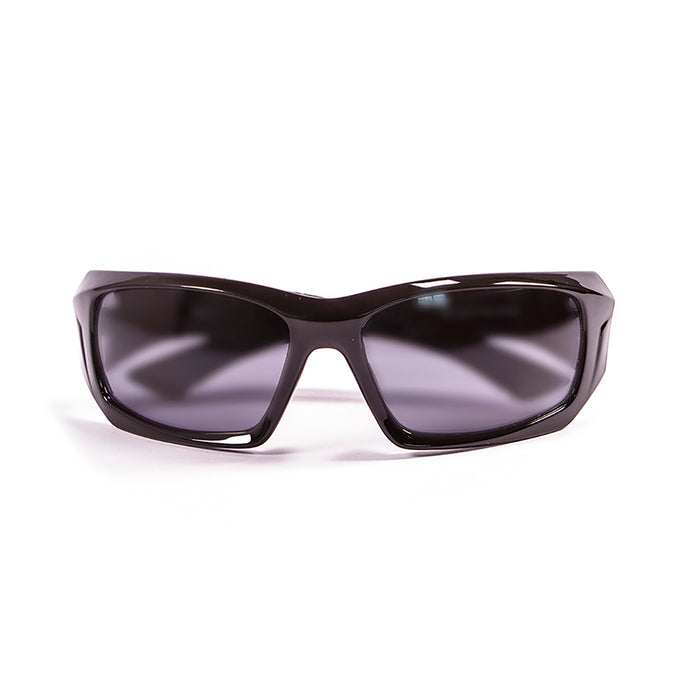 Ocean sunglasses model antigua 3300.1 with shiny black frame and smoke lens polarized eyewear for water sports