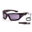 Ocean sunglasses model antigua 3300.0 with matte black frame and smoke lens polarized eyewear for water sports