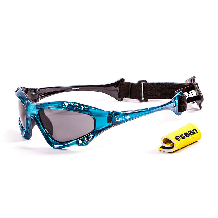 Ocean sunglasses model australia 11701.6 with blue frame and revo red lens polarized eyewear for water sports