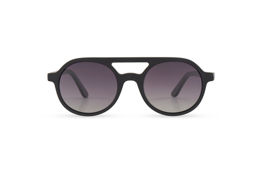KYPERS sunglasses model AVELINE AV001 with black frame and gradient grey lens