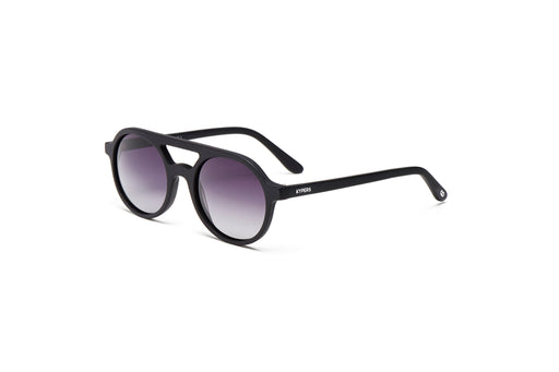 KYPERS sunglasses model AVELINE AV002 with black frame and purple revo lens