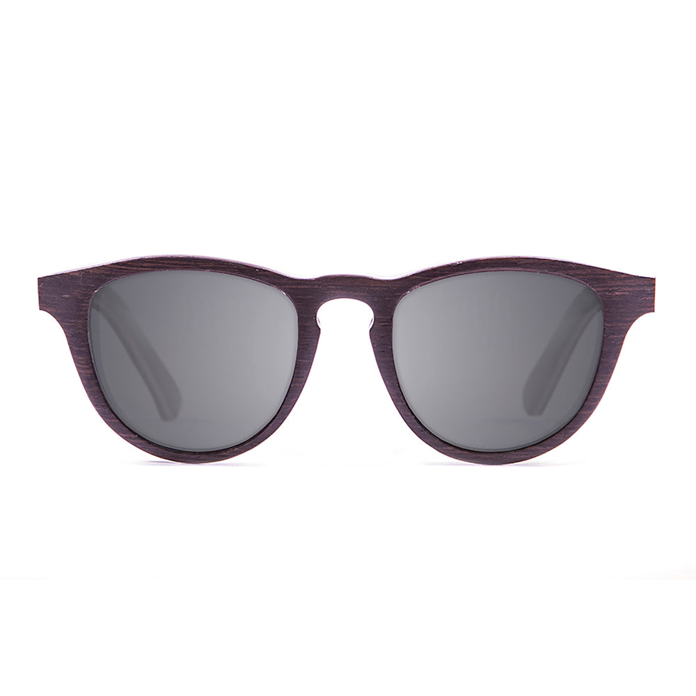 ocean sunglasses KRNglasses model AZORES SKU 54003.1 with ebony & turquoise line frame and smoke lens