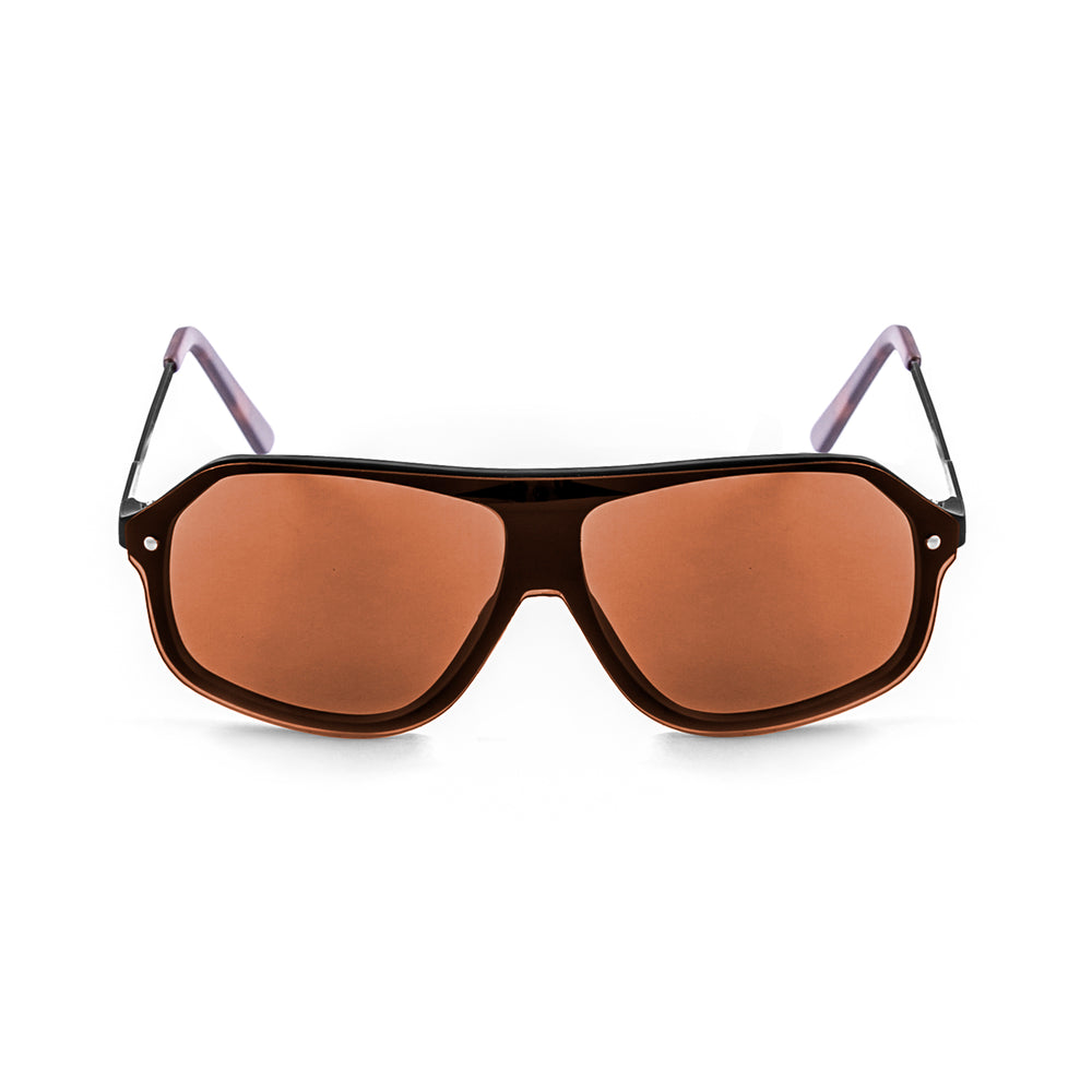 ocean sunglasses KRNglasses model BAI SKU 15200.0 with dark brown frame and smoke lens