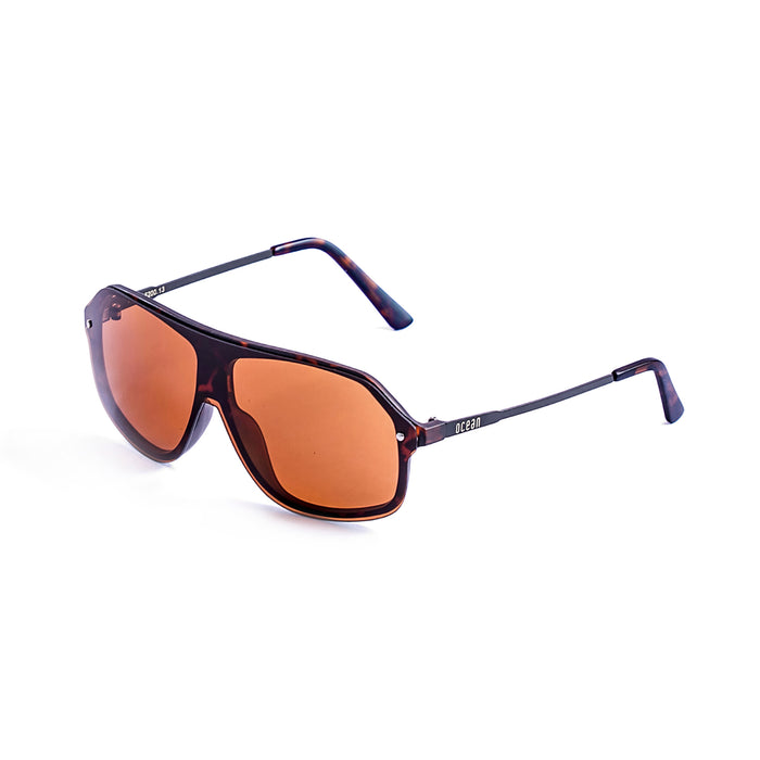 ocean sunglasses KRNglasses model BAI SKU 15200.8 with demy brown frame and smoke lens