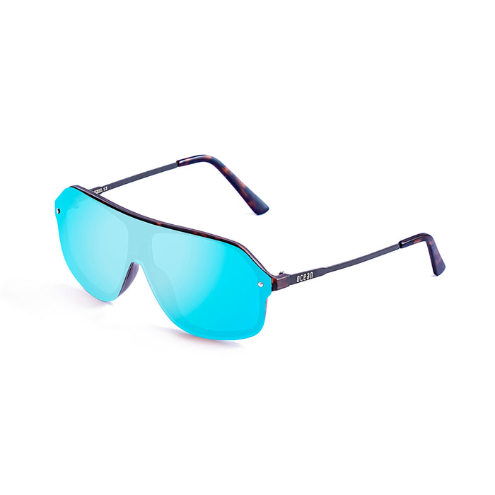 ocean sunglasses KRNglasses model BAI SKU 15200.9 with matte black frame and smoke lens