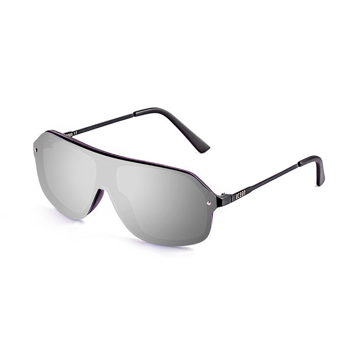 ocean sunglasses KRNglasses model BAI SKU 15200.5 with transparent grey frame and smoke lens