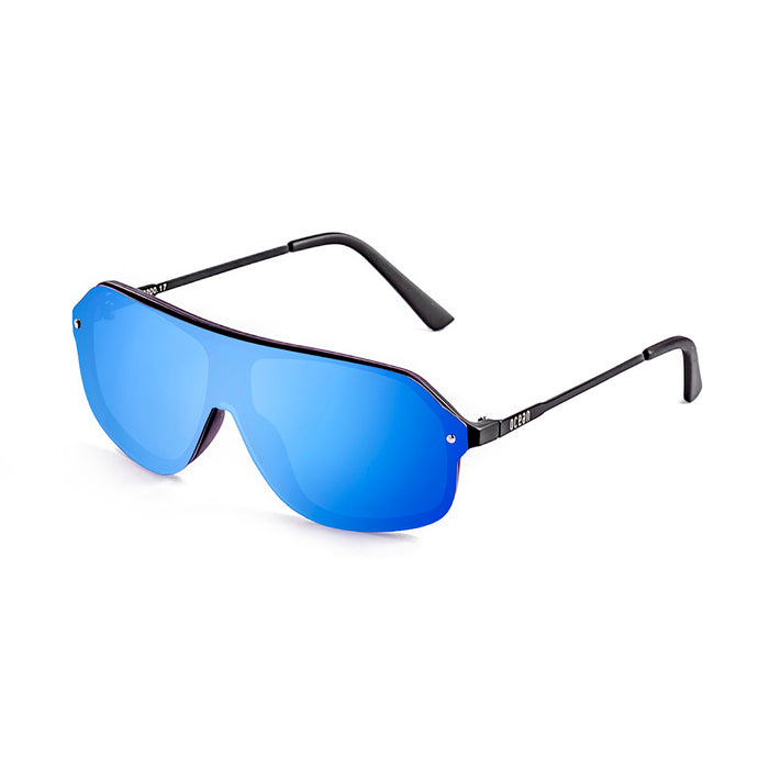 ocean sunglasses KRNglasses model BAI SKU 15200.7 with demy brown frame and revo blue lens