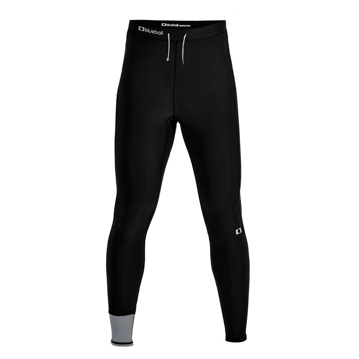 BLUEBALL MEN Running Full Length Without Lines Black Compression Pants