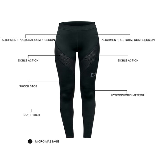 BLUEBALL WOMEN Running Full Lenght Pants Black Compression Pants