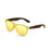 ocean sunglasses KRNglasses model BEACH SKU 18202.45 with matte black frame and revo blue lens