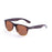 ocean sunglasses KRNglasses model BEACH SKU 18202.40 with transparent black frame and revo green lens