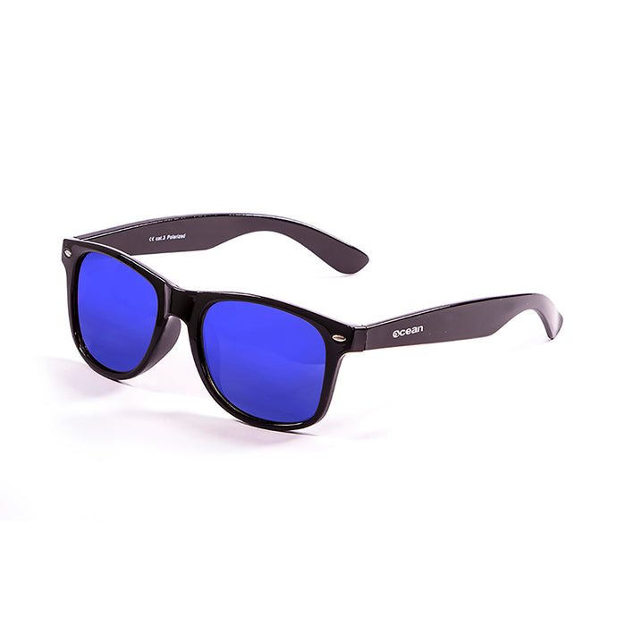 ocean sunglasses KRNglasses model BEACH SKU 18202.15 with red transparent frosted frame and revo rudy iridum lens