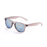 ocean sunglasses KRNglasses model BEACH SKU 18202.12 with transparent blue frame and revo blue lens