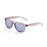 ocean sunglasses KRNglasses model BEACH SKU 18202.7 with transparent black frame and revo blue iridium lens
