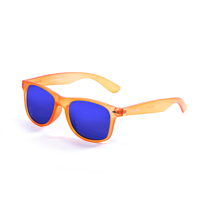 ocean sunglasses KRNglasses model BEACH SKU 18202.115 with matte yellow & brown frame and revo yellow lens