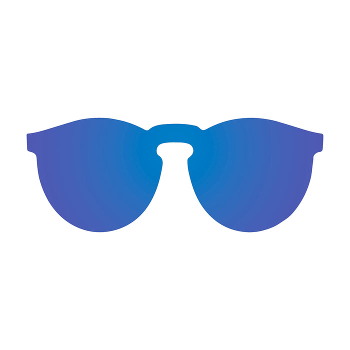 ocean sunglasses KRNglasses model BERLIN SKU 20.18 with transparent black frame and transparent gradient blue lens