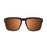 ocean sunglasses KRNglasses model BIDART SKU 30.6 with matte black frame and revo green lens