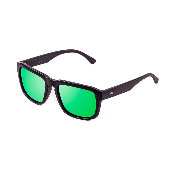ocean sunglasses KRNglasses model BIDART SKU 30.2 with matte black frame and smoke lens
